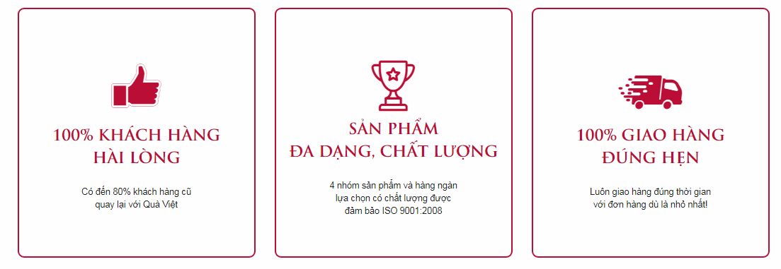 Cam kết của Quà Việt